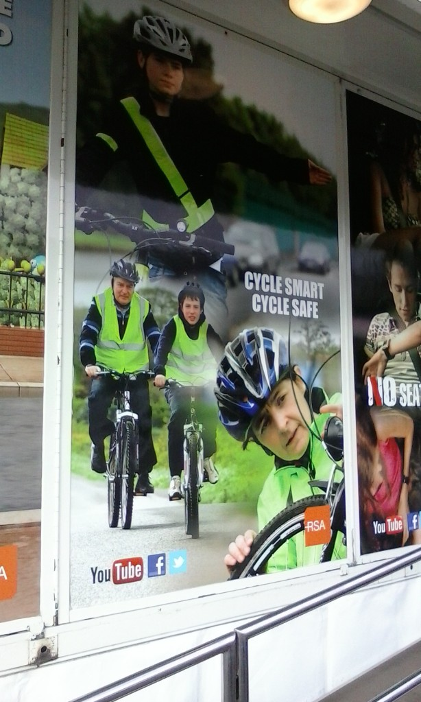 ridiculous scaremongering cycling poster