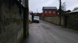 Photo of parked cars completely blocking footpath